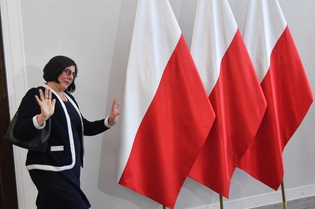 Ambasador Izraela Anna Azari po spotkaniu z Marszałkiem Senatu Stanisławem Karczewskim w Senacie /Bartłomej Zborowski /PAP