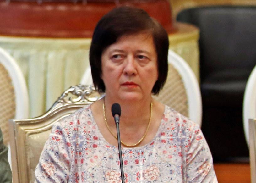 Ambasador Joanna Wronecka /Thet AUNG /AFP