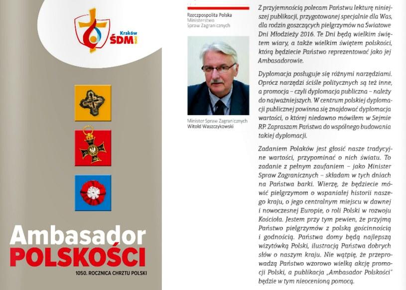 """""""Ambasador polskości"""" /msz.gov.pl /"""