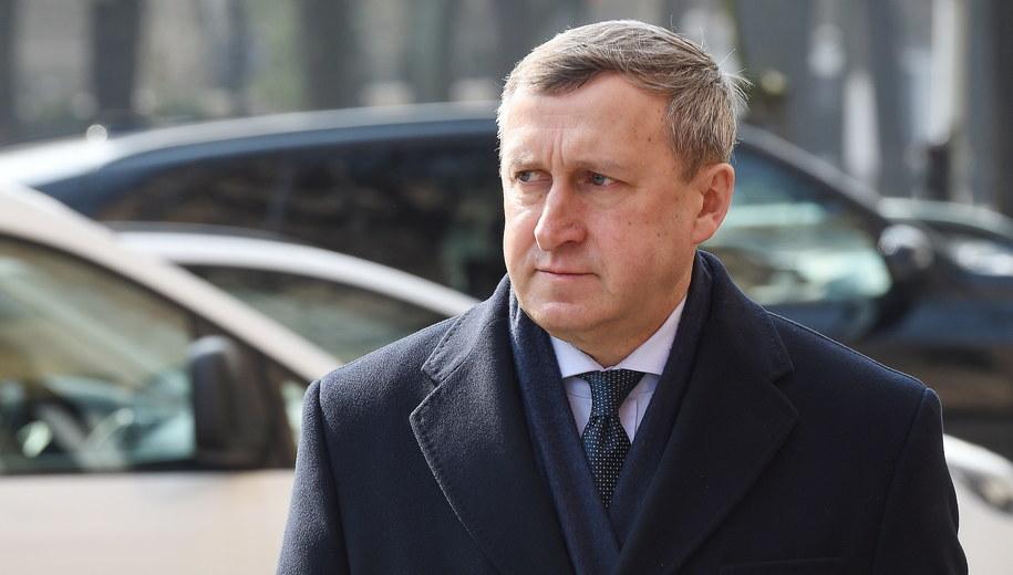 Ambasador Ukrainy w Polsce Andrij Deszczyca /Radek Pietruszka /PAP