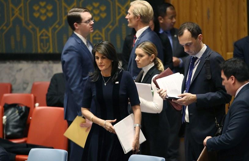 Ambasador USA przy ONZ Nikki Haley /AFP
