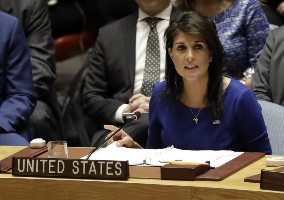 Ambasador USA przy ONZ Nikki Haley /JASON SZENES    /PAP/EPA