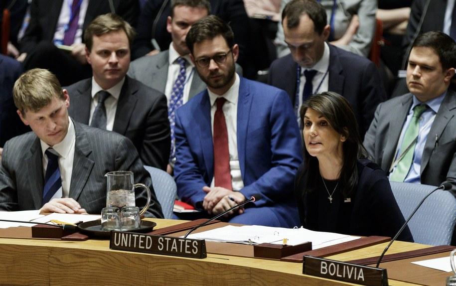 Ambasador USA przy ONZ Nikki Haley /JUSTIN LANE /PAP/EPA