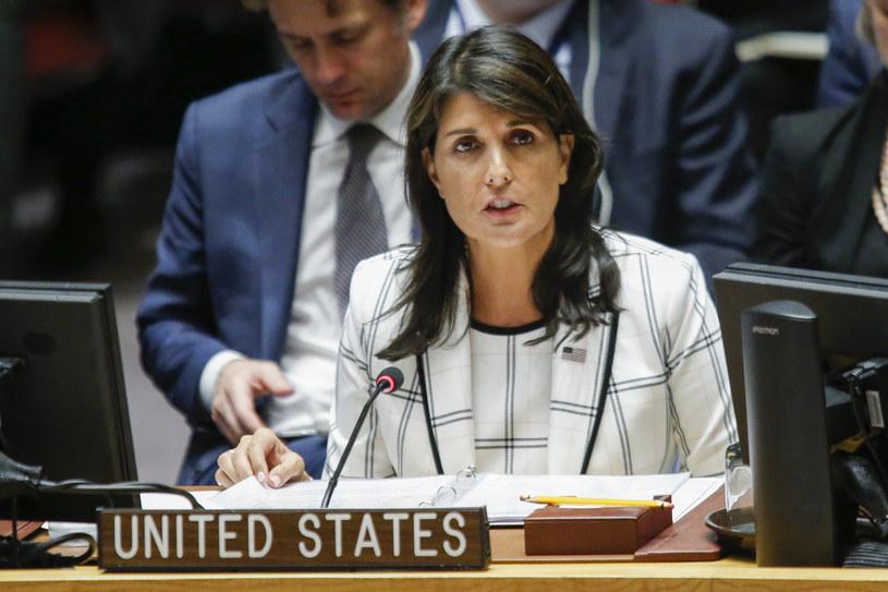 Ambasador USA przy ONZ Nikki Haley /Eduardo Munoz Alvarez /AFP