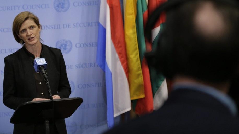 Ambasador USA przy ONZ Samantha Power /Peter Foley /PAP/EPA