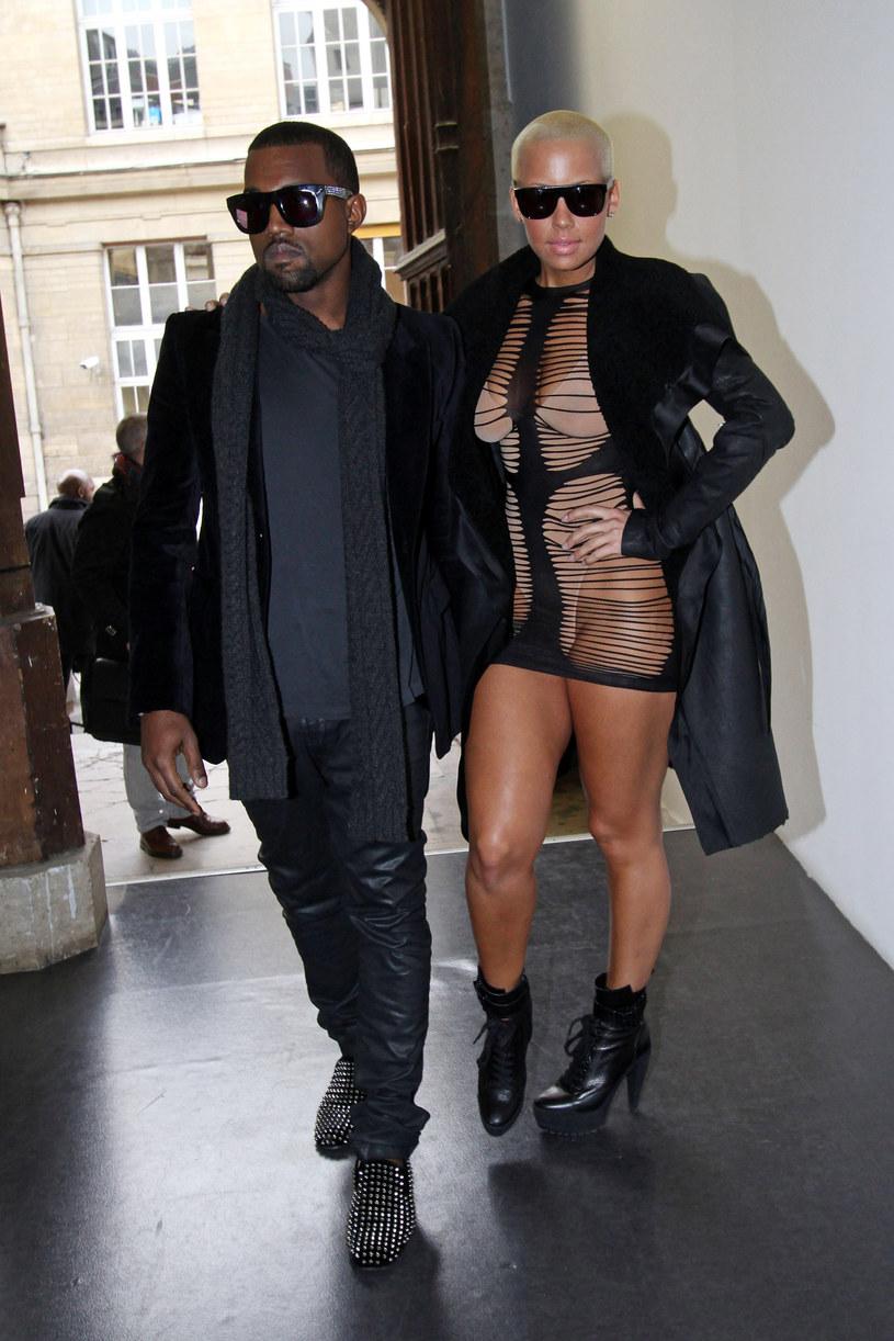 Amber Rose i Kanye West /Richard Bord /Getty Images