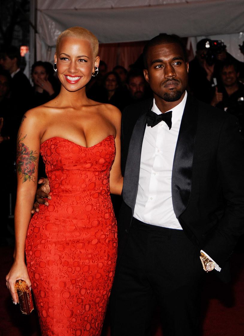 Amber Rose i Kanye West /Larry Busacca /Getty Images