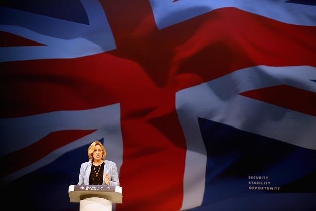 Amber Rudd, minister spraw wewnętrznych W. Brytanii. Fot. Christopher Furlong /Getty Images/Flash Press Media