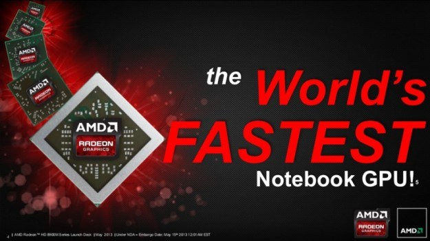 AMD Radeon HD 8970M - według AMD, to najszybsza karta graficzna dla notebooków na świecie /materiały prasowe