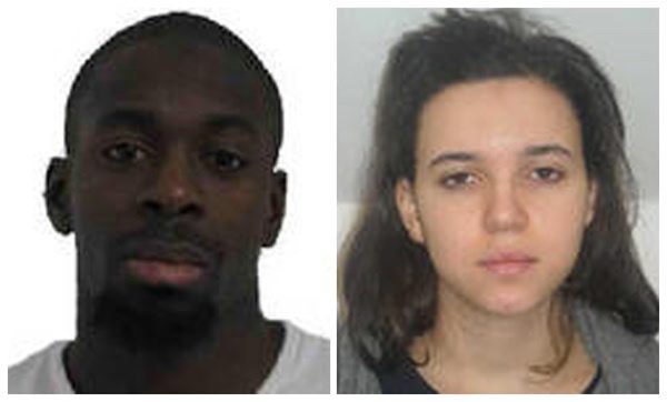 Amedy Coulibaly i Hayat Boumeddiene //FRENCH POLICE /PAP/EPA