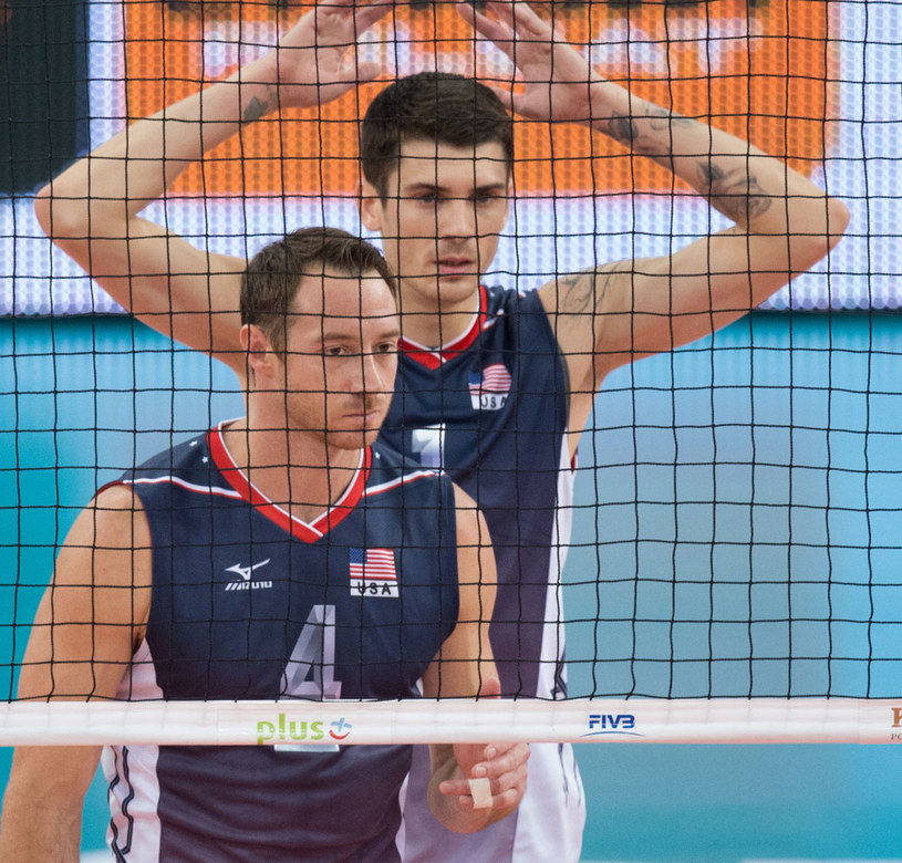 Amerykanie David Lee (L) i Matthew Anderson /Grzegorz Michałowski /PAP