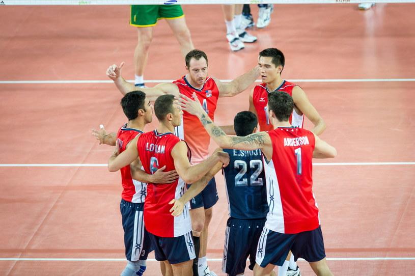 Amerykanie podczas meczu z Australią /Tytus Żmijewski /PAP