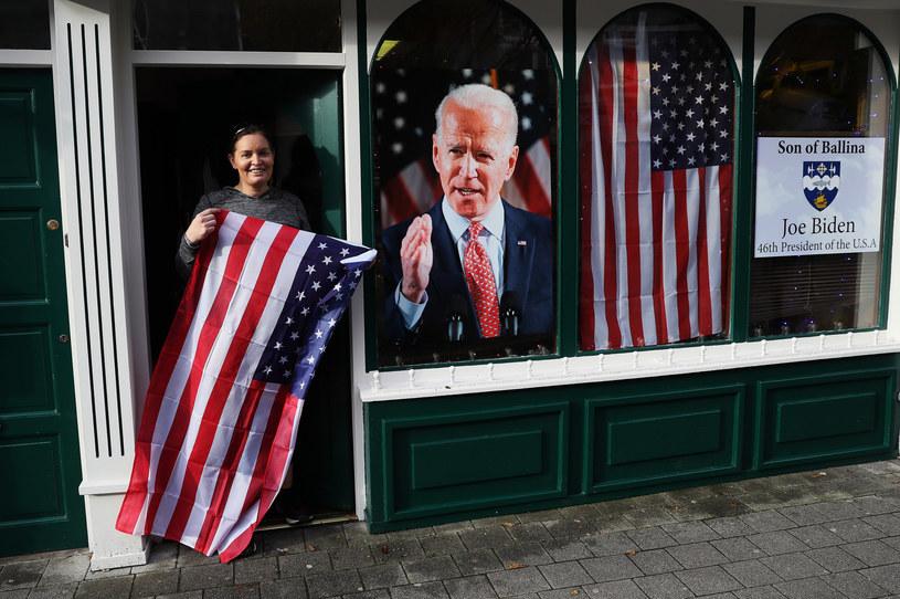 Amerykanie świętują zwycięstwo Bidena w wyborach /Brian Lawless/Press Association /East News