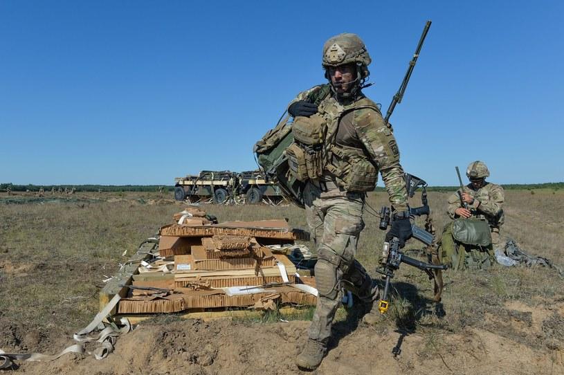 Amerykańscy żołnierze na poligonie /Gerard /Reporter