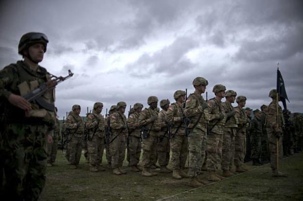 Amerykańscy żołnierze podczas ćwiczeń NATO w Europie /AFP