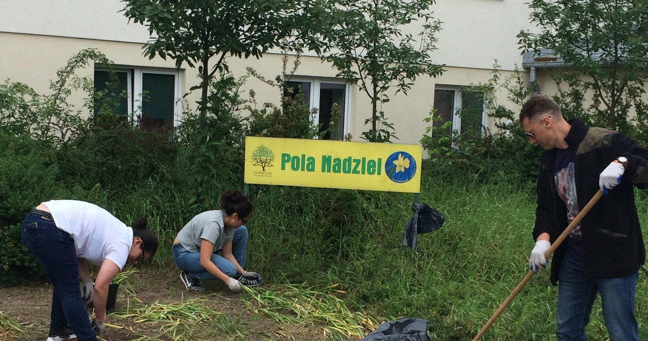 Amerykańscy żołnierze posprzątali ogród hospicjum w Licheniu