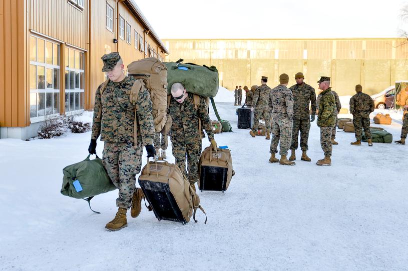 Amerykańscy żołnierze w bazie Stordal /AFP