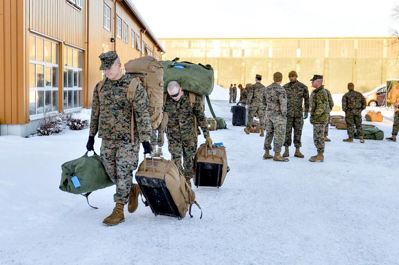 Amerykańscy żołnierze w Norwegii /NED ALLEY / NTB SCANPIX /AFP