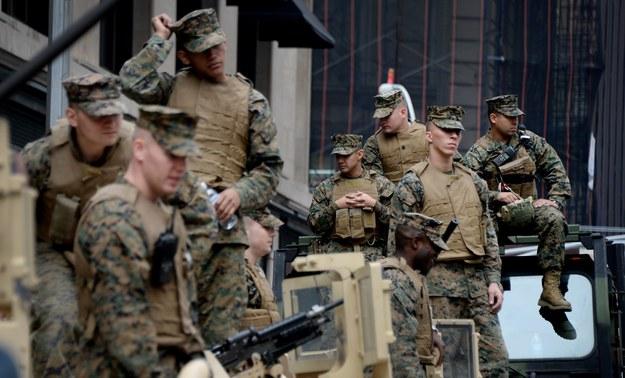 Amerykańscy żołnierze w stanie podwyższonej gotowości