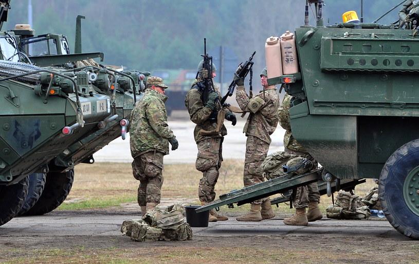 Amerykańscy żołnierze /Marcin Bielecki /PAP
