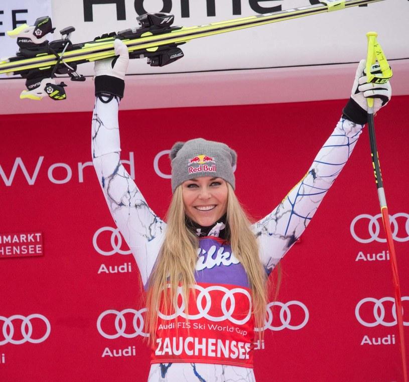 Amerykańska alpejka Lindsey Vonn chce koniecznie pobić rekord Szweda /AFP