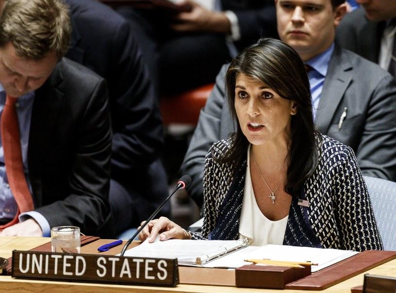Amerykańska ambasador przy ONZ Nikki Haley /JUSTIN LANE /PAP/EPA