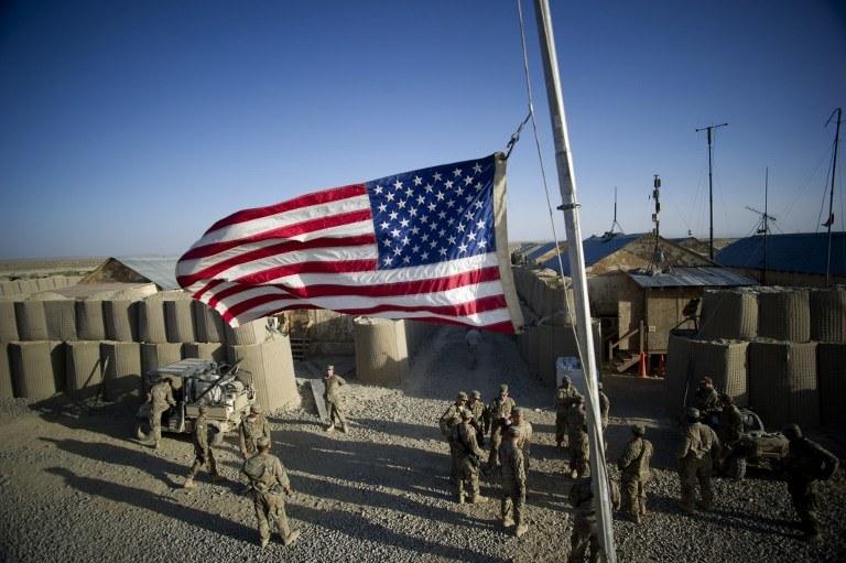 Amerykańska baza w Afganistanie /JOHANNES EISELE / AFP /AFP