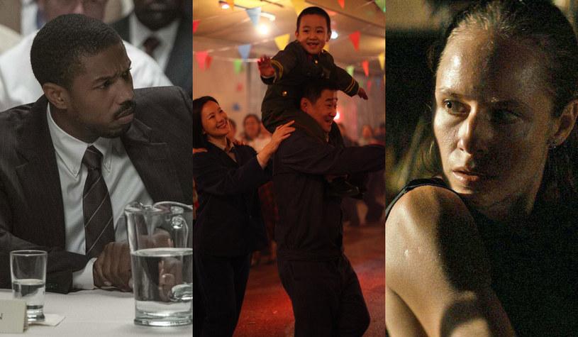 """Amerykański dramat """"Tylko sprawiedliwość"""" (L), chińska produkcja """"Żegnaj mój synu"""" (C) oraz polski film """"Eastern"""" (P)  trafiają na ekrany kin w ostatni weekend czerwca /materiały dystrybutora"""