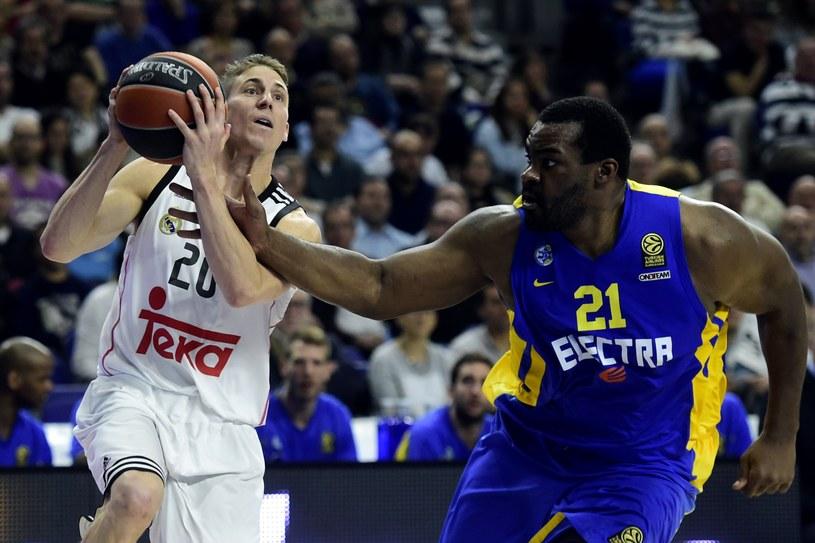 Amerykański koszykarz Realu Madryt Jaycee Carroll /AFP