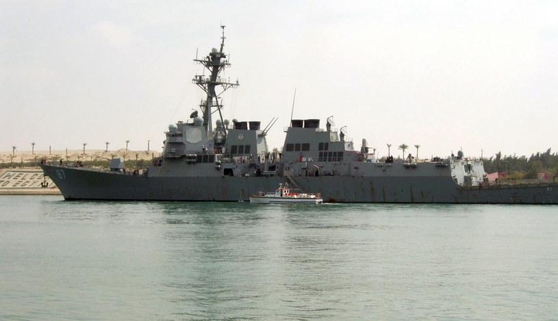 Amerykański niszczyciel rakietowy USS Mason /AFP