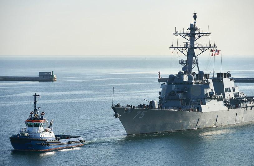 Amerykański niszczyciel USS Donald Cook /Adam Warżawa /PAP
