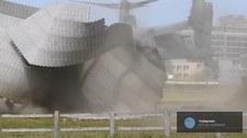 Amerykański Osprey zdmuchnął lądowisko dla helikopterów