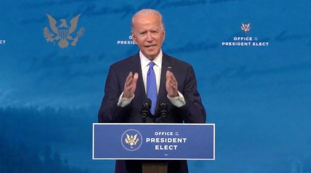 Amerykański prezydent elekt Joe Biden /Biden Transition TV/CNP /PAP/Abaca