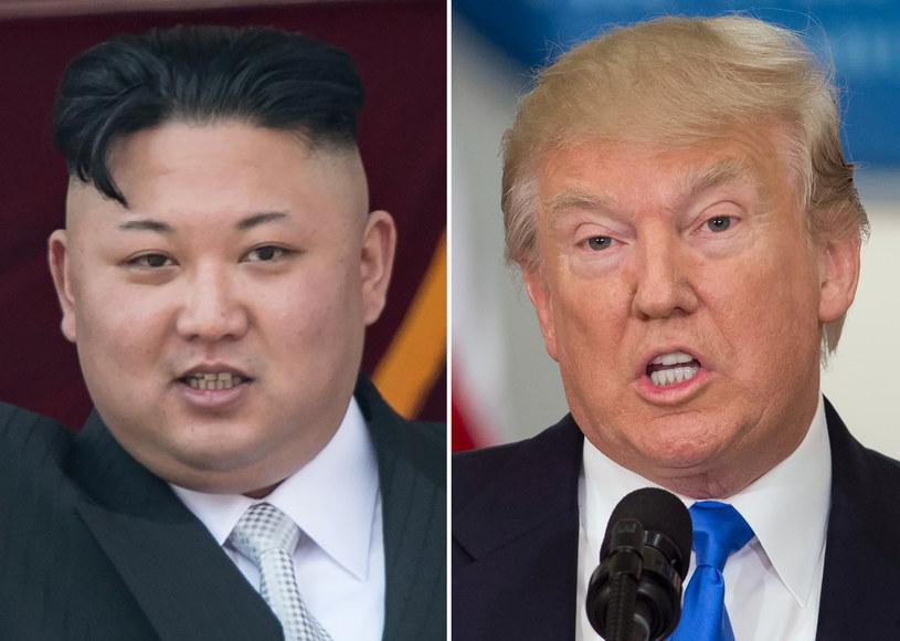 """Amerykański prezydent zapowiedział we wtorek, że jeśli Korea Północna będzie dalej grozić Stanom Zjednoczonym, spotka ją """"ogień i gniew"""". /SAUL LOEB, Ed JONES  /AFP"""