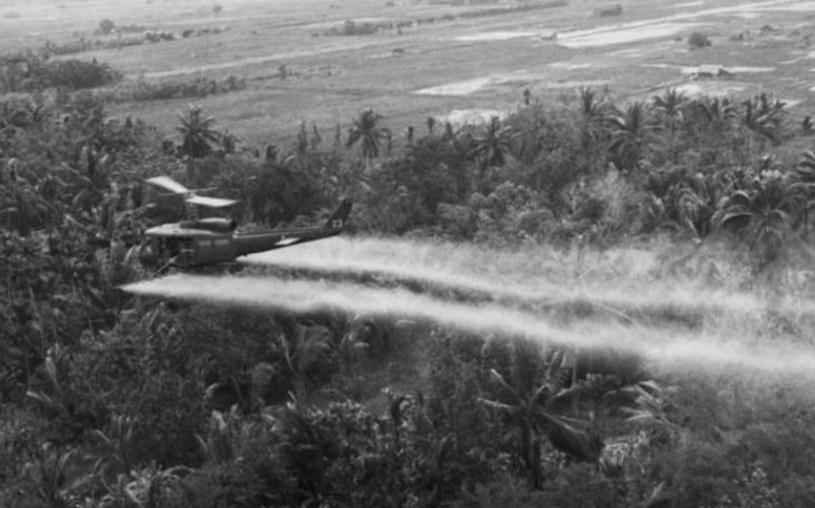 Amerykański śmigłowiec rozpyla Agent Orange nad Wietnamem /East News /AFP