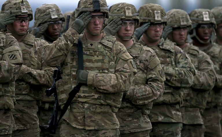 Amerykański żołnierze na ćwiczeniach NATO w Bułgarii /NIKOLAY DOYCHINOV / AFP /AFP