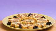 Amerykańskie ciastka motylki z nadzieniem ze śliwek kalifornijskich