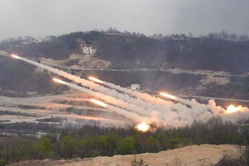 Amerykańskie i południowokoreańskie wojska w czasie ostatnich manewrów na Półwyspie /JUNG YEON-JE /AFP