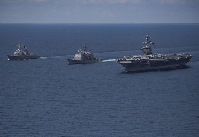 Amerykańskie okręty zmierzają w kierunku Półwyspu Koreańskiego /US DEPARTMENT OF DEFENSE /PAP/EPA