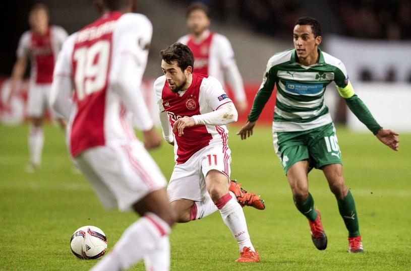 """Amin Younes (z lewej) był """"katem"""" lipskiej drużyny, kompletując hat-tricka /AFP"""