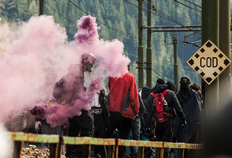 Anarchiści na przełęczy Brenner /PAP/EPA