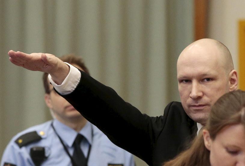 Anders Breivik w sądzie / REUTERS/Lise Aserud/NTB /Agencja FORUM