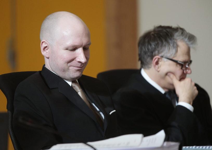 Anders Breivik w trakcie procesu /LISE ASERUD /PAP/EPA
