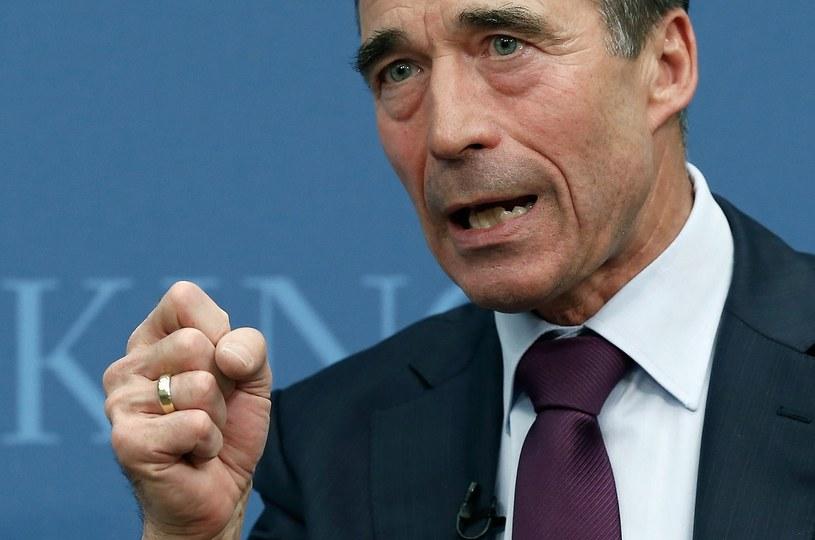 Anders Fogh Rasmussen - sekretarz genaralny NATO. /AFP