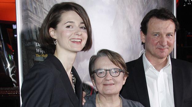 Agnieszka Grochowska, Agnieszka Holland, Robert Więckiewicz /AKPA