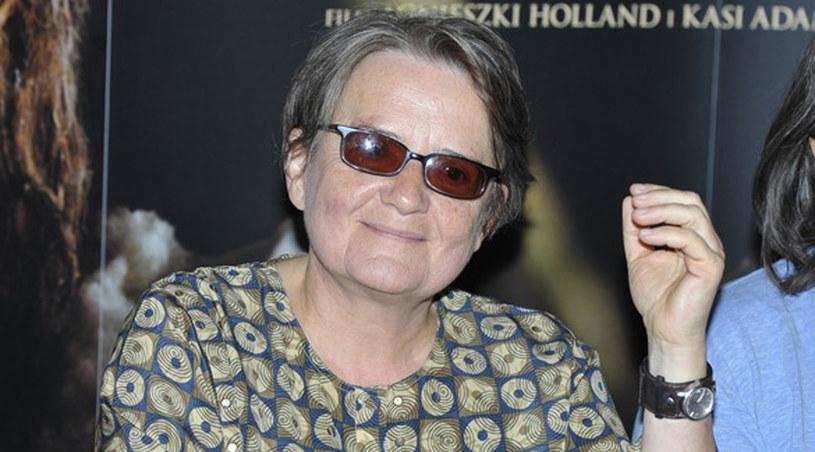 """Agnieszka Holland na premierze prasowej filmu """"Janosik prawdziwa historia"""" /Gałązka /AKPA"""