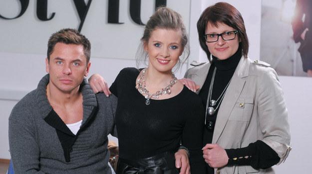 Anna Powierza wraz ze stylistami Szkoły Stylu /Agencja W. Impact