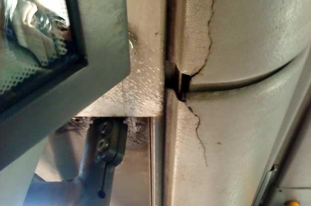 Autobus już od dłuższego czasu nie był czyszczony