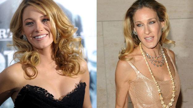 Blake Lively (po lewej) nawet jest podobna do Sary Jessici Parker (po prawej) /AFP