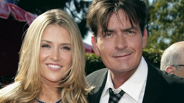 Charlie Sheen i jego żona, Brooke Mueller /AFP